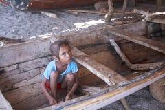 从Lembata海岛的亚裔女孩  免版税库存图片