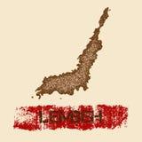 Lembeh martwił mapę Zdjęcie Stock