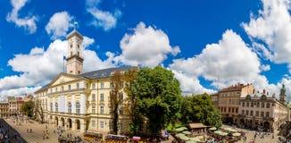 Lemberg - die historische Mitte von Ukraine stockfoto