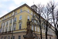 Lemberg-Stadtrat- und Adonis-Skulptur Lizenzfreie Stockfotografie
