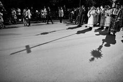 LEMBERG, UKRAINE - 27. APRIL 2016: Karwocheleidenschaft und Tod von J Stockfotografie