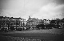 Lemberg, Ukraine - 23. Dezember 2018: Historisch und Ferienort der Stadt in Lemberg, Ukraine lizenzfreie stockfotos