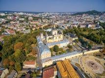 LEMBERG, UKRAINE - 12. SEPTEMBER 2016: St George ' s-Kathedrale Kathedrale des griechischen Katholischen des 18. Jahrhundert Lizenzfreie Stockfotos