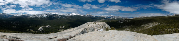 Lembert dome. Panoramic view in yosemite national park royalty free stock photography