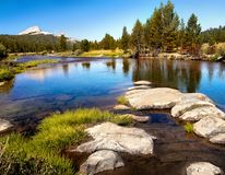 Tuolumne River Meadows Yosemite National Park. Lembert Dome, Tuolumne River and meadows in Yosemite National Park. California United States Royalty Free Stock Photography