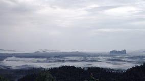 Lembing in nebbia Immagini Stock Libere da Diritti
