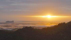 Lembing Sunrise. Sungai Lembing is a tin mining town 42 km northwest of Kuantan in Pahang, Malaysia Stock Photos