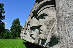 Lembolovo-Grenze, Monument zum Sieg. St. Petersburg, Lizenzfreies Stockfoto