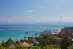 Lembongan海岛全景  免版税库存照片