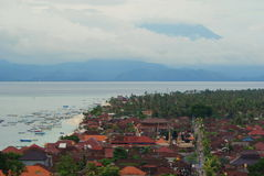 Lembongan Island with Agung Volcano on the background Royalty Free Stock Photo
