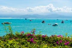 Lembongan tropisch eiland, één van populaire aantrekkelijkheden in Bali, Indonesië Stock Afbeelding