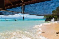 Lembongan tropisch eiland, één van populaire aantrekkelijkheden in Bali, Indonesië Stock Afbeeldingen