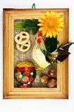 Lembrança de madeira do russo idoso Fotos de Stock Royalty Free