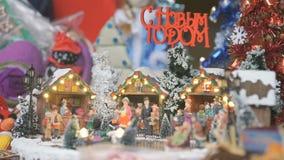 Lembrança do brinquedo do Natal - pista de gelo vídeos de arquivo