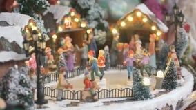 Lembrança do brinquedo do Natal - pista de gelo video estoque