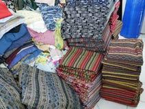 Lembrança tailandesa colorida da tela do estilo no mercado Chiang Mai, Tailândia Imagens de Stock Royalty Free