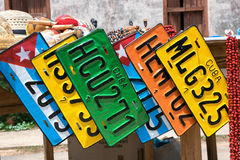 Lembranças cubanas do mercado de rua Foto de Stock Royalty Free