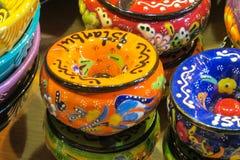 Lembranças de Istambul na feira grande, Turquia Imagens de Stock Royalty Free