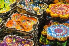 Lembranças de Istambul na feira grande, Turquia Imagem de Stock