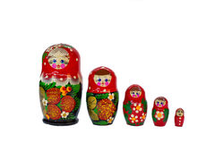 Lembranças de madeira das bonecas de Matryoshka do russo Imagem de Stock Royalty Free