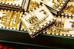 Lembranças de madeira em Ucrânia fotos de stock royalty free
