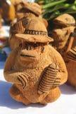 Lembranças locais feitas do coco na República Dominicana de Punta Cana Imagem de Stock Royalty Free