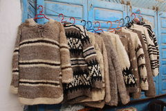 Lembranças marroquinas - pulôveres de lãs Fotografia de Stock