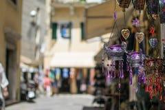 Lembranças orientais da lâmpada em Corfu fotografia de stock