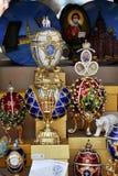 Lembranças simbólicas da cultura do russo na venda Foto de Stock Royalty Free
