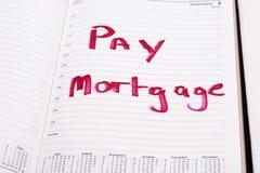 Lembrete da hipoteca Imagem de Stock Royalty Free