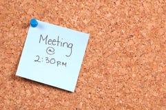 Lembrete da reunião Foto de Stock