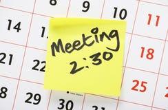 Lembrete da reunião Imagens de Stock