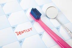 Lembrete da visita do dentista fotografia de stock royalty free