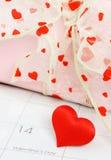 Lembrete do dia de Valentim Fotografia de Stock