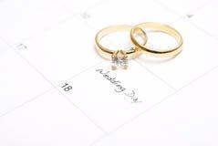 Lembrete do dia do casamento Imagens de Stock