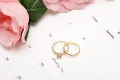 Lembrete do dia do casamento Fotos de Stock Royalty Free