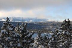Lembrete do inverno da montanha Fotos de Stock Royalty Free