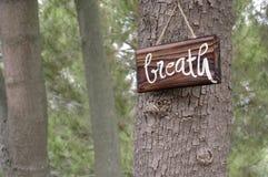 Lembrete do quadro indicador da respiração Foto de Stock Royalty Free