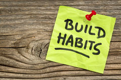 Lembrete dos hábitos da construção Foto de Stock Royalty Free
