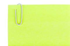Lembretes da etiqueta dos materiais de escritório Imagem de Stock