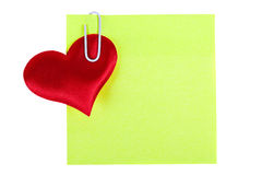 Lembretes da etiqueta dos materiais de escritório Imagem de Stock Royalty Free