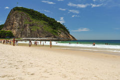 Leme Beach and Mountain Royalty Free Stock Photography
