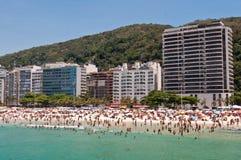Leme and Copacabana beach in Rio de Janeiro Stock Images