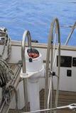 Leme de um sailboat Imagem de Stock Royalty Free