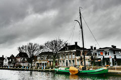 Lemmer in Friesland. Stock Photo