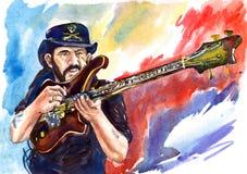 Lemmy Kilmister, líder do ` de Motorhead do ` e baixista ilustração stock