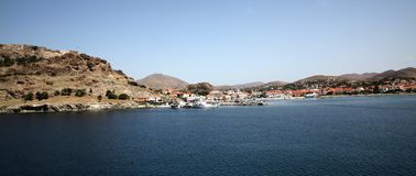 Lemnos island of Nothern Greece stock image