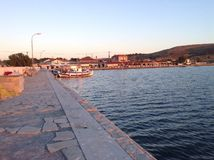 Lemnos port Royaltyfri Bild