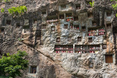 Lemo is cliffs burial site in Tana Toraja, South Sulawesi, Indonesia Stock Photos