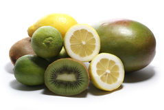 Lemom lime kiwi mango Stock Images